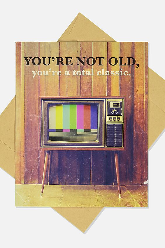 Funny Birthday Card, TOTAL CLASSIC RETRO TV
