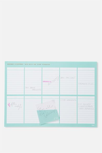 A3 Plan Ahead Planner, BLUE COFFEE