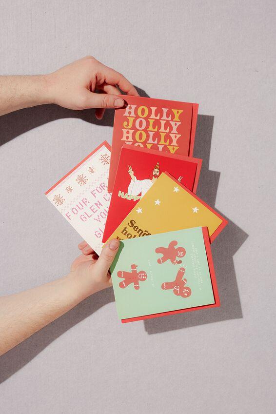 Christmas Card 2020, HOLLY JOLLY MULTI