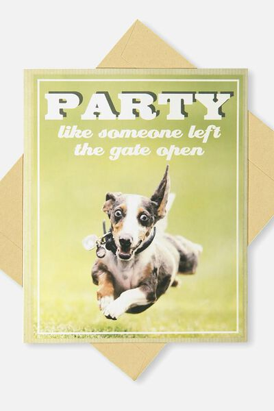 Animalistic Birthday Card, FB-GATE OPENED