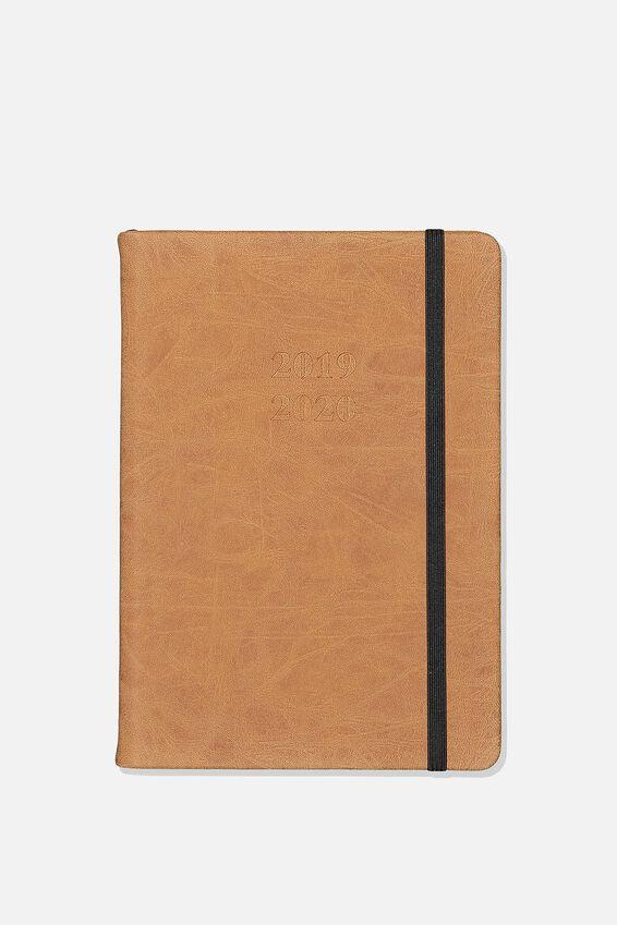 2019 20 A5 Daily Buffalo Diary, TAN