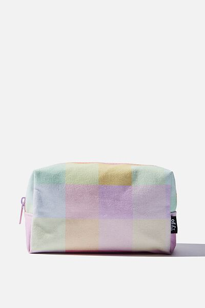 Brooklyn Pencil Case, RAINBOW CHECK
