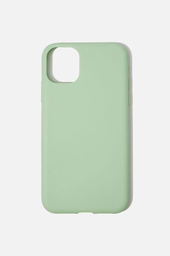 Slimline Recycled Phone Case Iphone 11, MINT LEAF