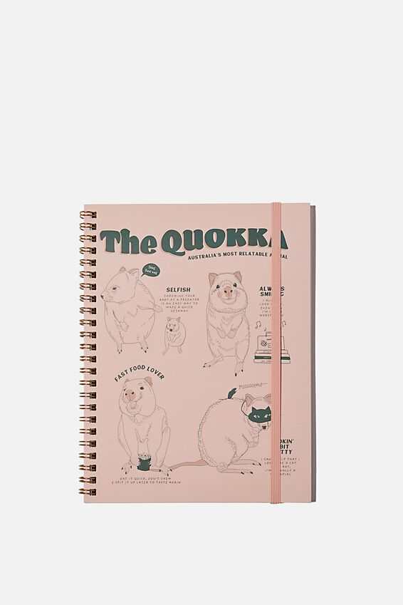 A5 Spinout Notebook Recycled, THE QUOKKA