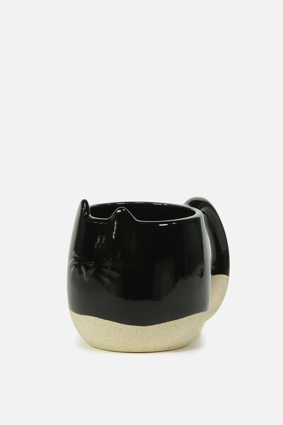Novelty Shaped Mug, CAT DIPPED