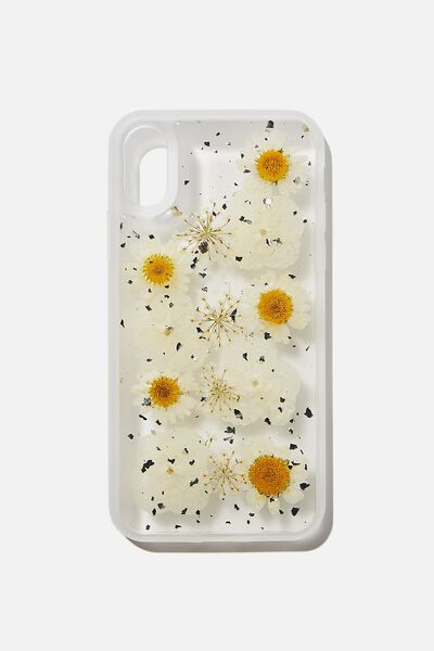 Snap On Protective Phone Case X, Xs, TRAPPED DAISY