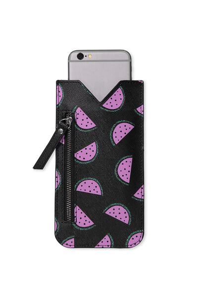 Novelty Phone Pouch, WATERMELON