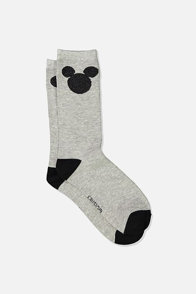 Novelty Socks, LCN DIS MK BLACK MICKEY