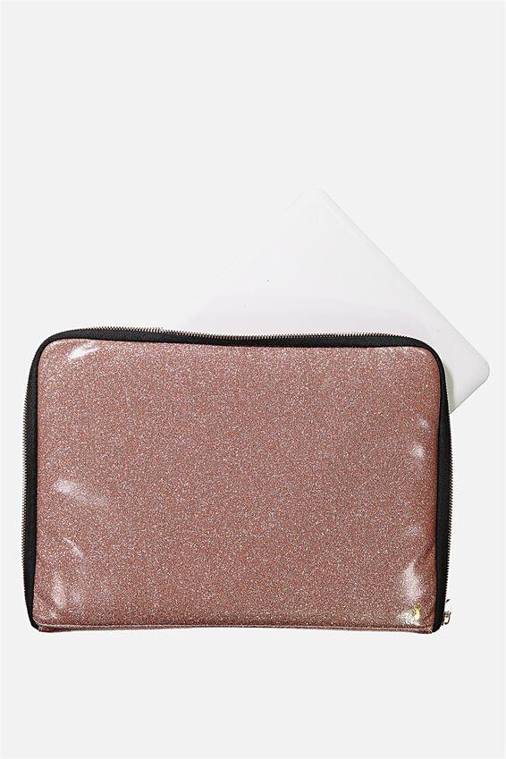 Buffalo 13 Inch Laptop Cover, ROSE GOLD GLITTER
