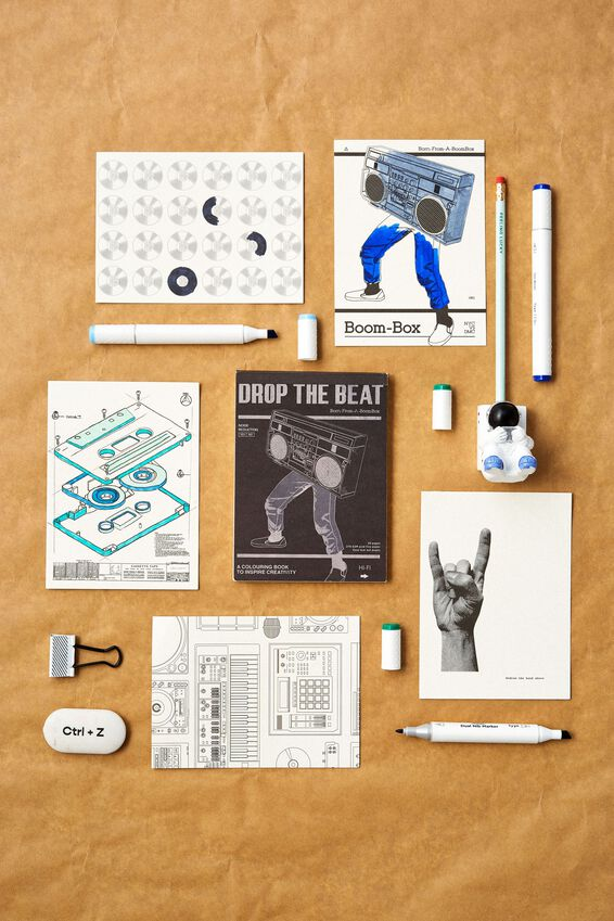 Artists Assistant Colouring In Book, DROP THE BEAT