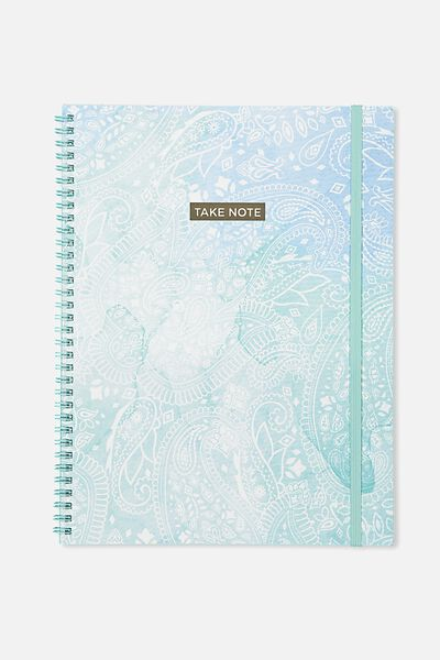 A4 Spinout Notebook - 120 Pages, OMBRE LACE