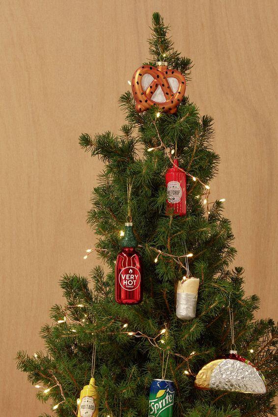 Small Glass Christmas Ornament, CHILI SAUCE