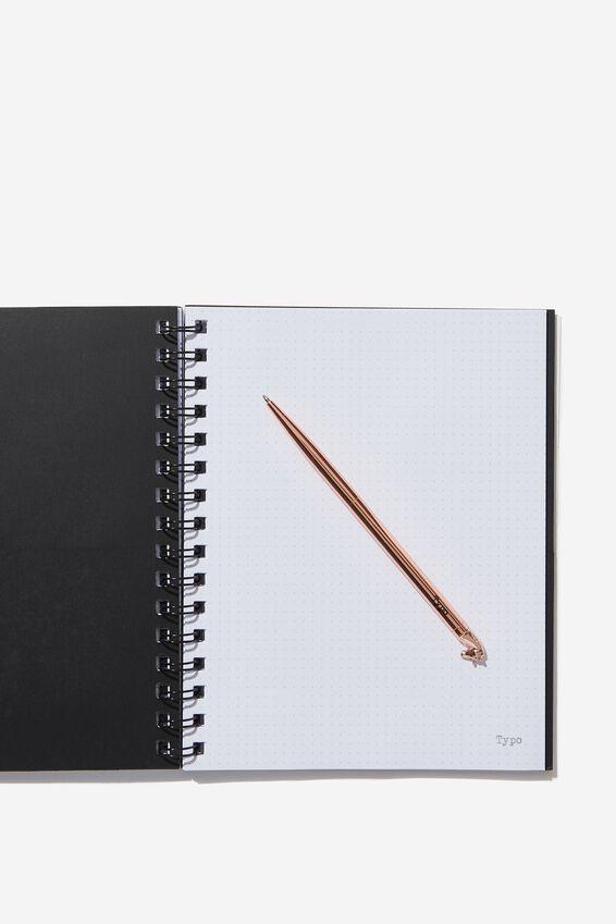 A5 Campus Notebook Dot Internal, GREEN MARBLE