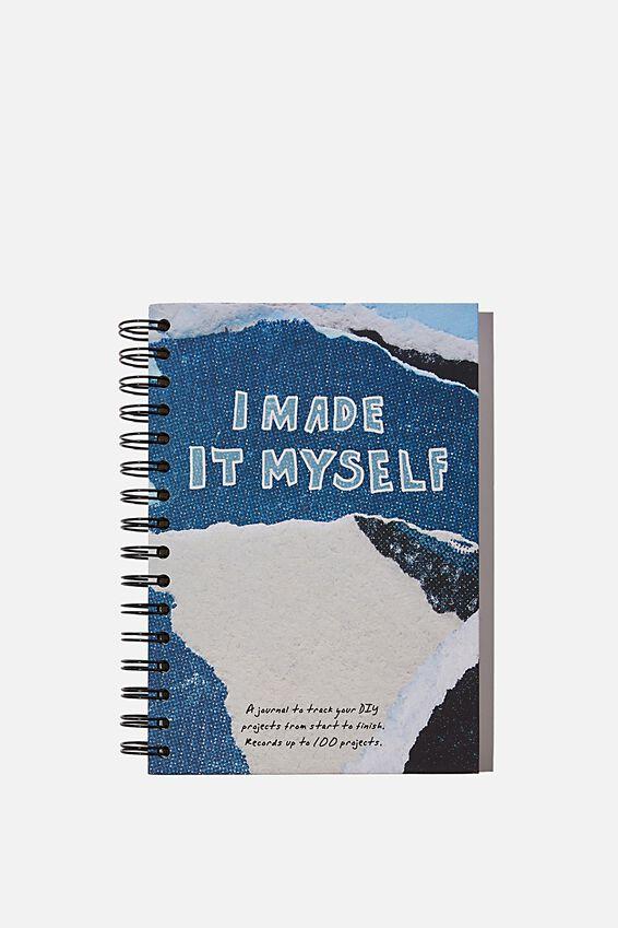 A5 Fashion Activity Journal, I MADE IT MYSELF BLUE