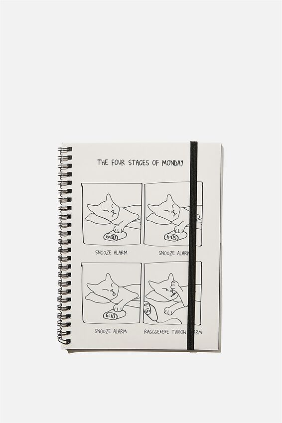 A5 Spinout Notebook Recycled, CAT ILLO REAL FOOTAGE