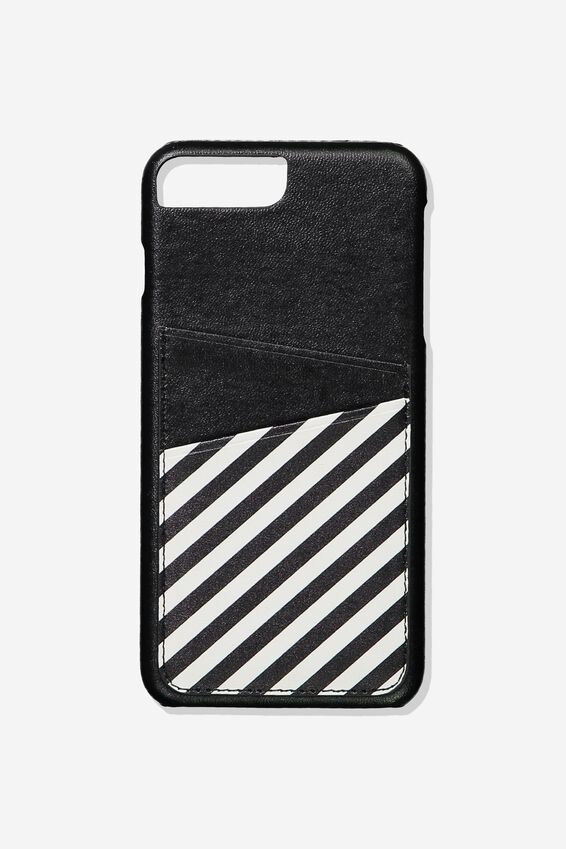 The Cardholder Phone Cover 6,7,8 Plus, STRIPE