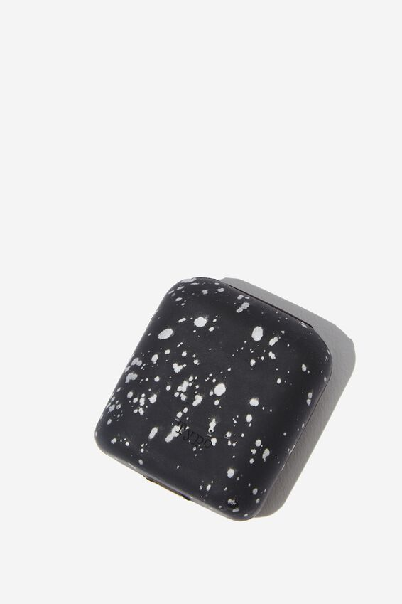 Ear Bud Sleeve, BLACK SPLATTER