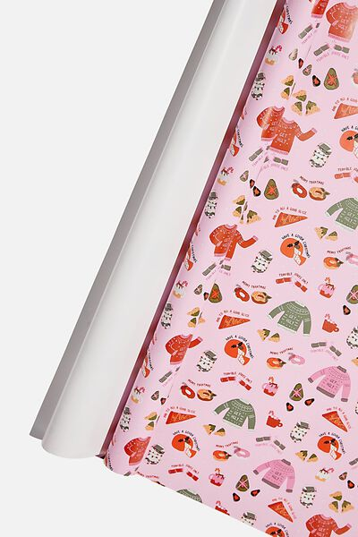 Roll Wrapping Paper, CHRISTMAS JUMPER ICONS