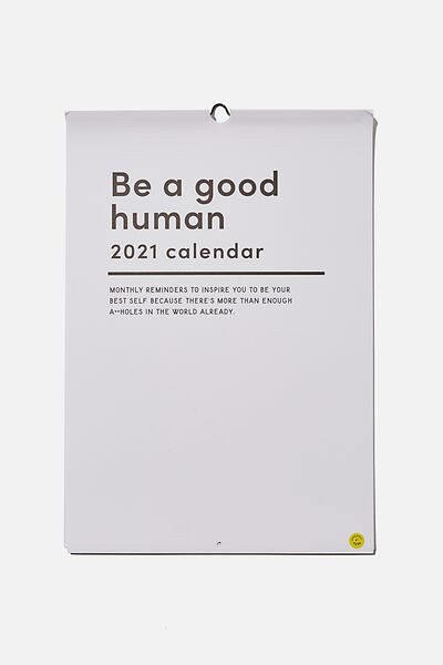 2021 A3 Art Series Calendar, MONTHLY REMINDERS