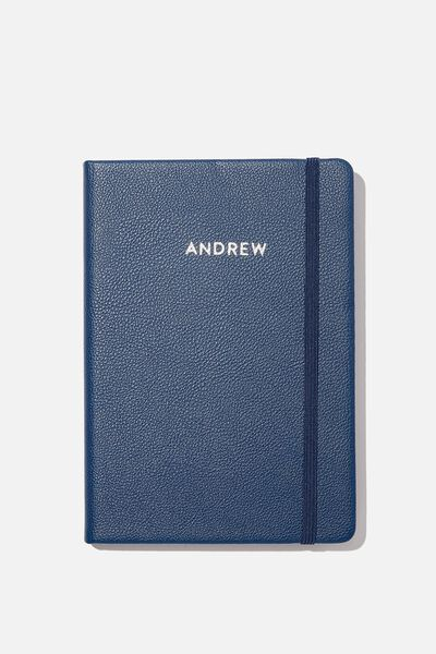 A5 Buffalo Journal Personalised, NAVY