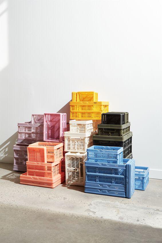 Midi Foldable Storage Crate, PEACH
