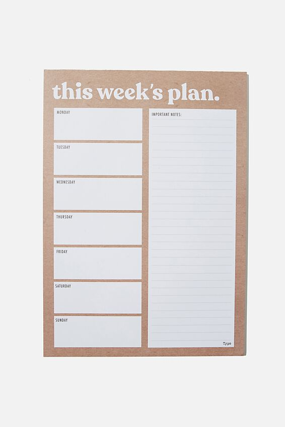 A4 Plan Ahead Planner, CRAFT THIS WEEK'S PLAN