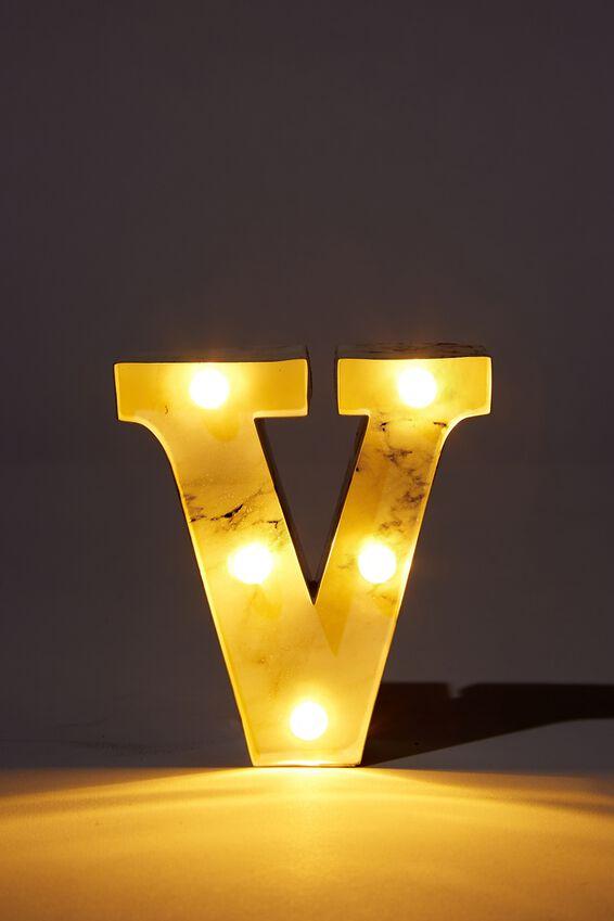 Mini Marquee Letter Lights 10cm, MARBLE V