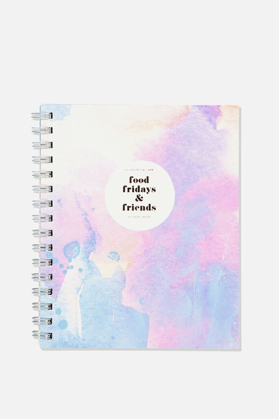 A5 Campus Notebook, FOOD FRIDAYS FRIENDS WATERCOLOUR