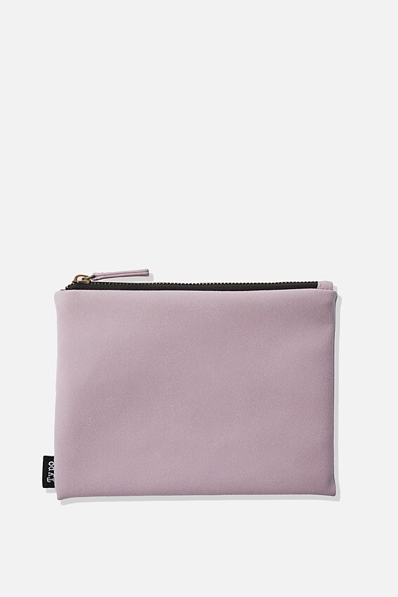 Pu Campus Pencil Case, HEATHER