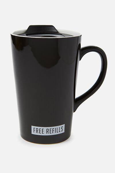 Nomad Travel Mug, FREE REFILLS