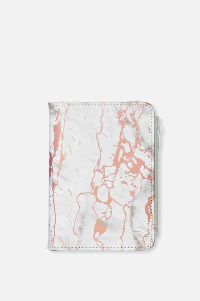 Classic Passport Holder, ROSE GOLD MARBLE