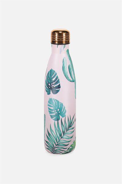 Metal Drink Bottle, MONSTERIA LEAF