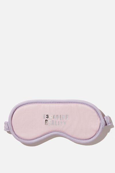 Premium Sleep Eye Mask, BLUSH ESCAPING REALITY