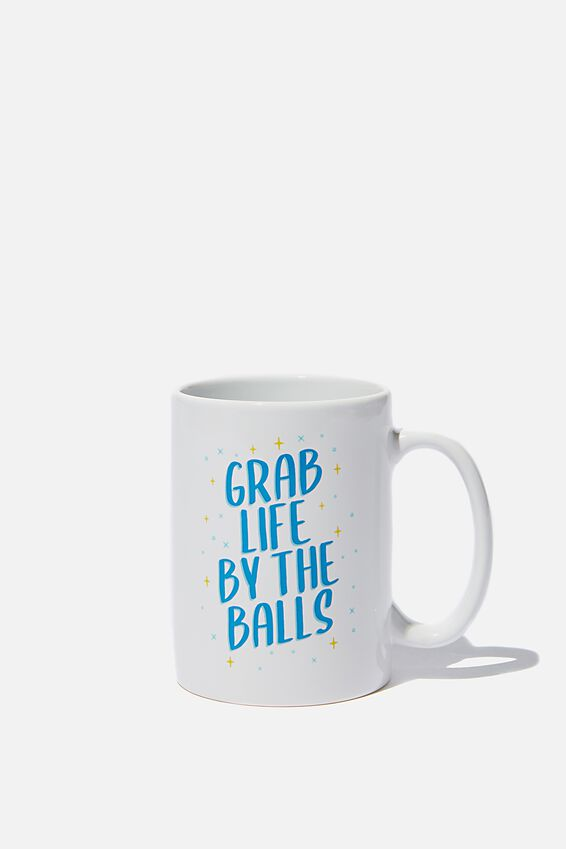 Double Dose Mug, GRAB LIFE!