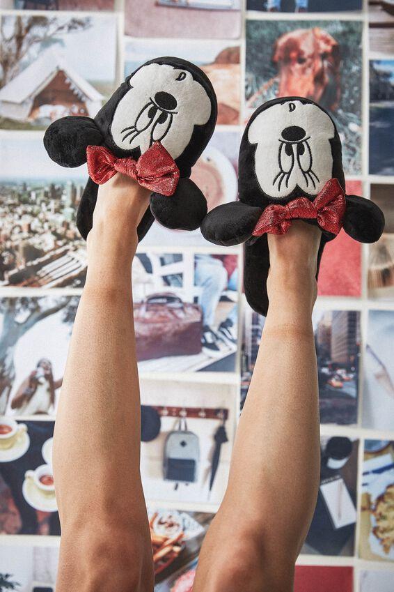 Disney Novelty Slippers, LCN MINNIE FACE