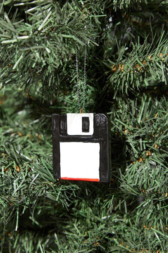 Resin Christmas Ornament, FLOPPY DISK