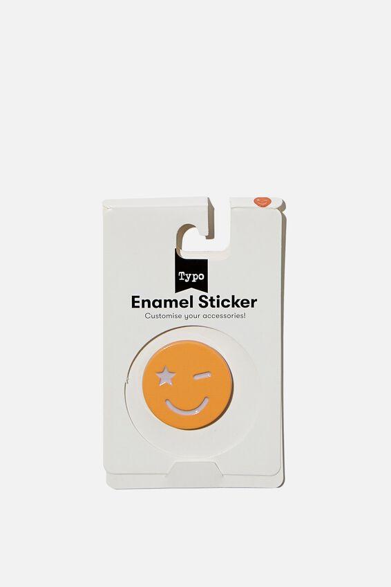 Enamel Stickers, PEACH SMILEY