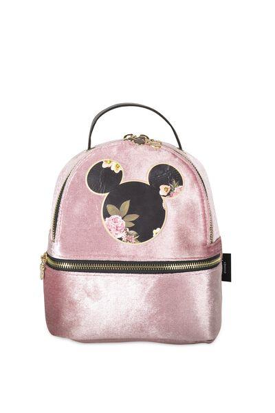 Mini Fashion Backpack, LCN BLUSH & FLORAL MICKEY