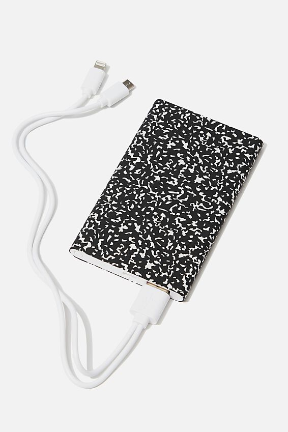 Printed Charge It Charger, BLACK COMPOSITION
