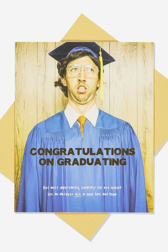 Graduation Card, CONGRATS DICK