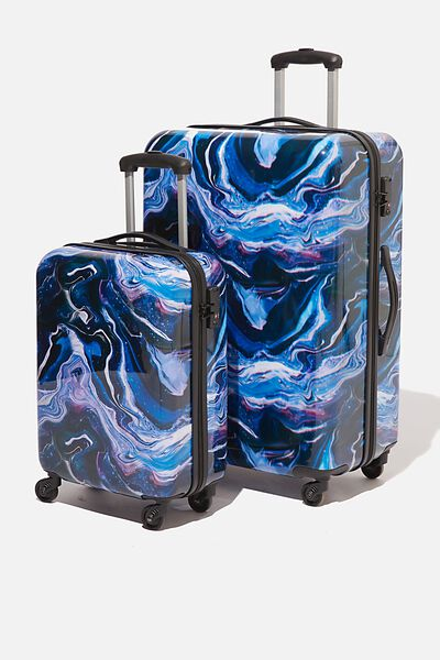 Suitcase Set With Tsa Lock, MOON MARBLE