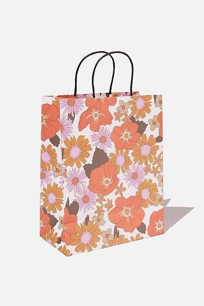 Gift Wrap Service, PINK ORANGE STEVIE FLORAL