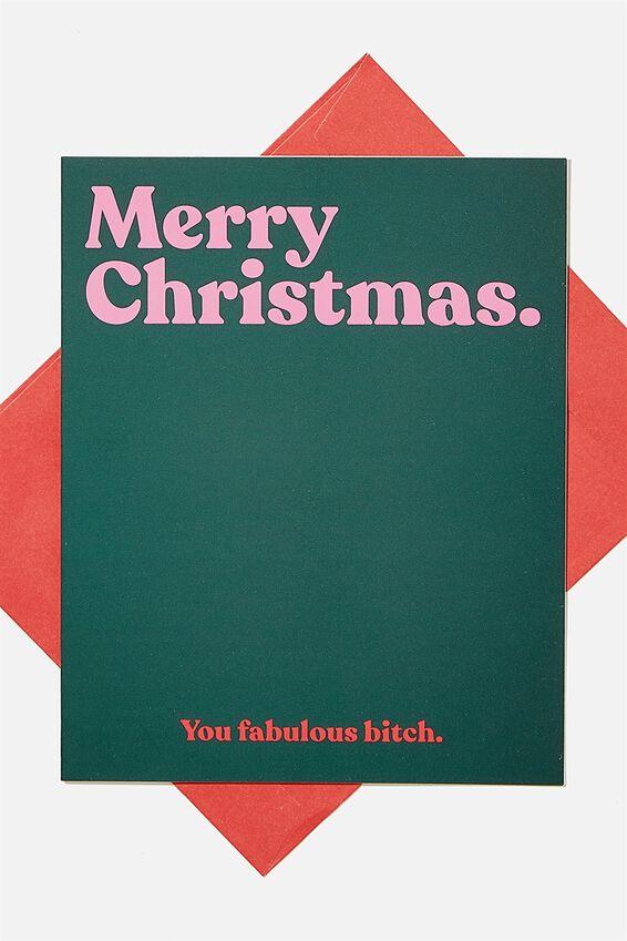 Christmas Card 2020, YOU FABULOUS BITCH!