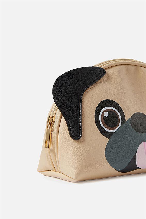 Novelty Cosmetic Bag, PUG