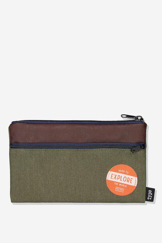 Archer Pencil Case, CANVAS BADGE