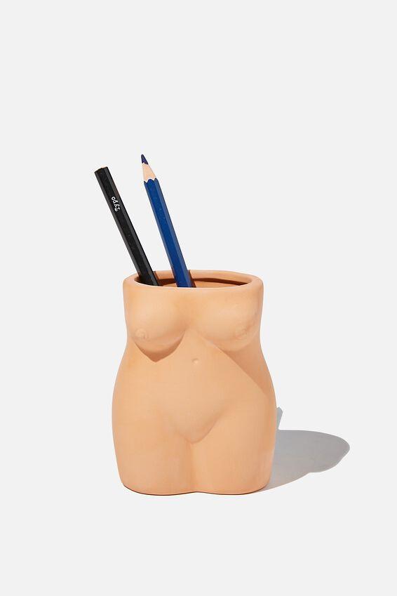 Pen Holder, TERRACOTTA FEMALE