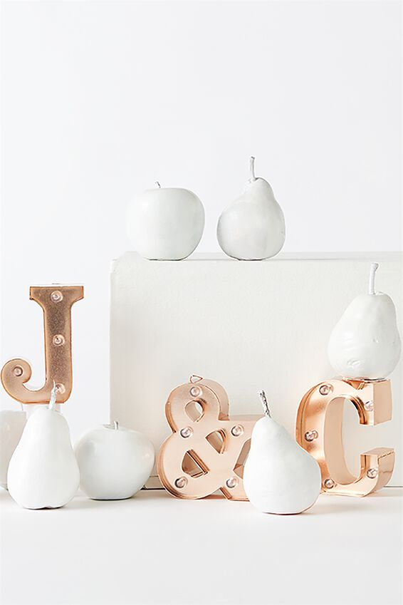 Mini Marquee Letter Lights 10cm, ROSE GOLD G