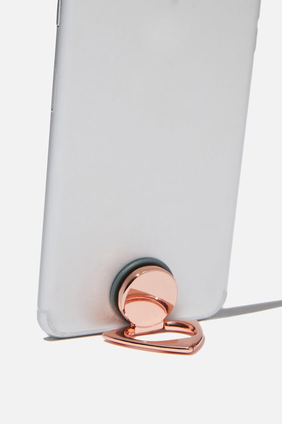 Metal Phone Ring, TRIANGLE ROSE GOLD