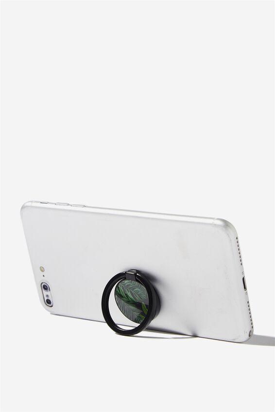 Metal Phone Ring, FERN FOLIAGE