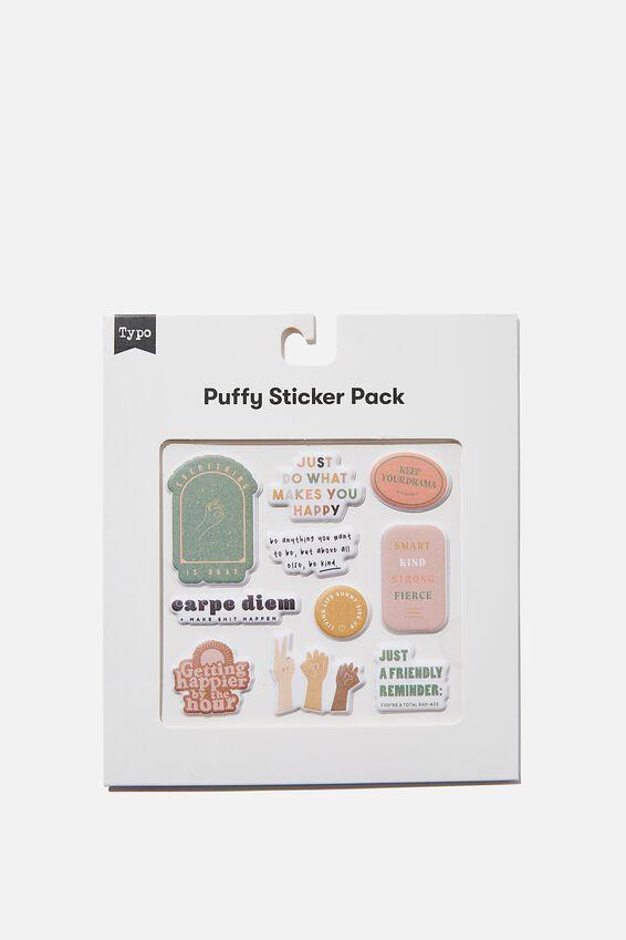 Puffy Sticker Pack, CARPE DIEM
